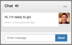 A screenshot of a chat window that remote operators use to communicate with on-site teams
