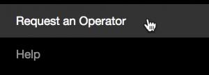 """Screenshot of a """"Request an Operator"""" link"""