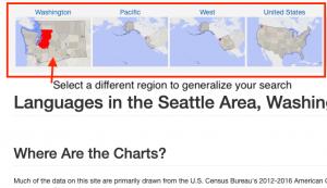 Screenshot of selecting a more general region in Statistical Atlas