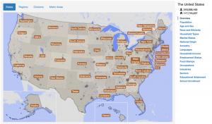 Screenshot of Statistical Atlas website